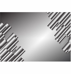 silver abstract background with copy space vector image