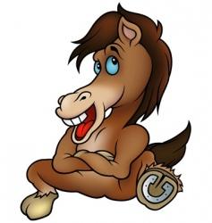 Sitting horse vector
