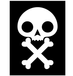 skull icon black background vector image