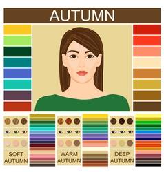 Stock set three autumn types female vector