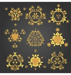 Swirl pattern set vector