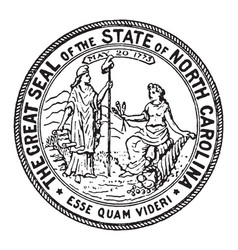 the great seal of the state of north carolina vector image