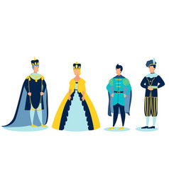 the royal family in minimalist style cartoon vector image