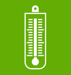 thermometer icon green vector image