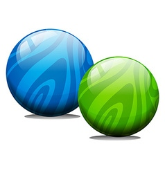 Two ball with marble texture vector image