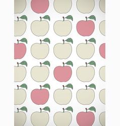 Vertical card with cartoon apples vector
