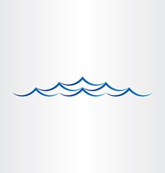 Water waves sea or ocean abstract design vector