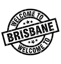 welcome to brisbane black stamp vector image