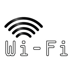 WiFi text symbol vector