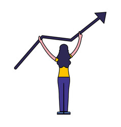 woman standing with growth arrow vector image