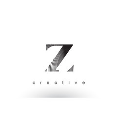 Z logo design with multiple lines and black and vector