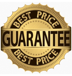 Best price guarantee golden label vector image vector image