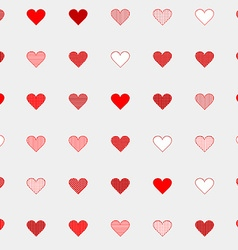 Hand drawn seamless pattern with hearts vector image vector image