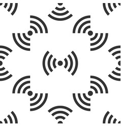wi-fi network symbol icon seamless pattern on vector image