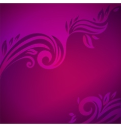 Abstract floral background with leaves vector image