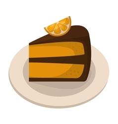 Homemade pumpkin pie vector image vector image