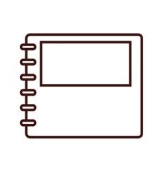 Notebook notepad paper vector