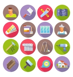 Renovation Flat Icons Set vector image vector image