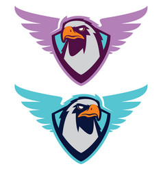 eagle sport logotype for college team vector image