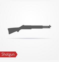 hunter rifle silhouette icon vector image vector image
