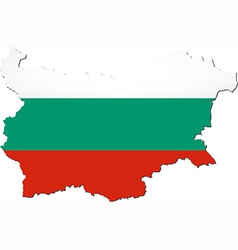 Map of Bulgaria with national flag vector image