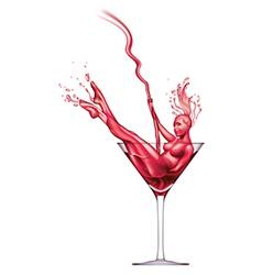 Martini pour-dancer vector image