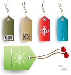christmas tag set vector image