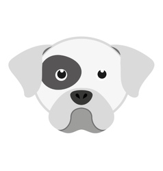 cute dog head isolated icon design vector image vector image