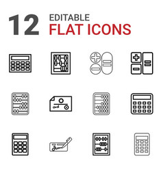 12 accounting icons vector