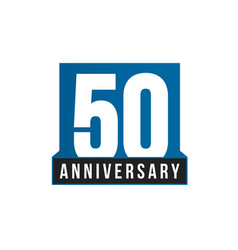 50th anniversary icon birthday logo vector image