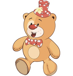 A stuffed toy bear cub cartoon vector image