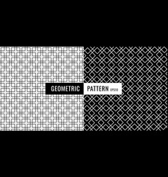 abstract black and white geometric square border vector image