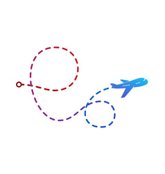 Airplane logo on color vector