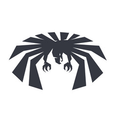 anger bird force eagle symbol freedom black vector image