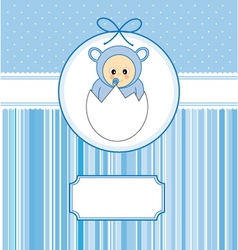 Baby within an egg vector image