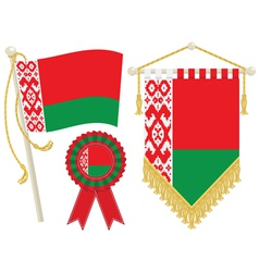 Belarus flags vector