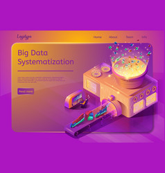 big data automated systematization service vector image