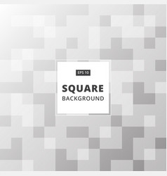 black and white abstract square pattern vector image