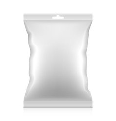 Blank snacks food foil packaging bag vector
