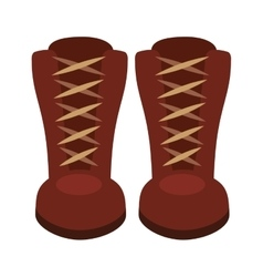 Boots fashion isolated icon design vector