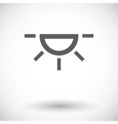Bulb flat icon vector image