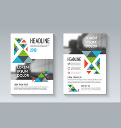 business brochure flyer in geometric style vector image
