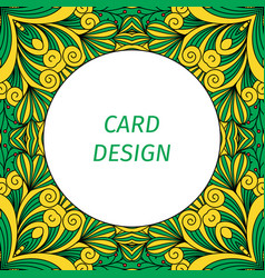 Card design with floral decorative ornament vector