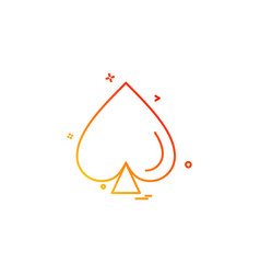 card spade icon design vector image