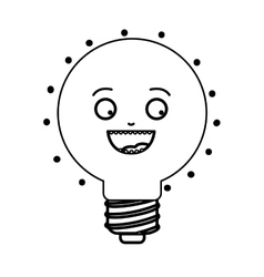 cartoon bulb light vector image
