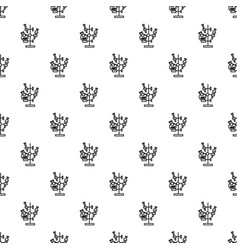chemical flask stand pattern seamless vector image