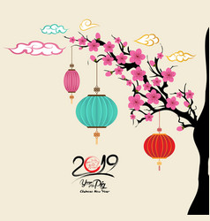 chinese new year ornament collection vintage pig vector image