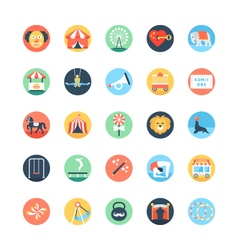 Circus Colored Icons 3 vector