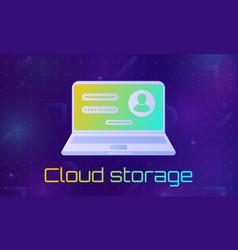 cloud file storage vector image