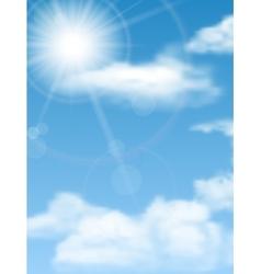 Cloudscape sun sky vector